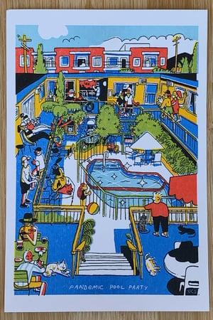 Pandemic Pool Party Postcard