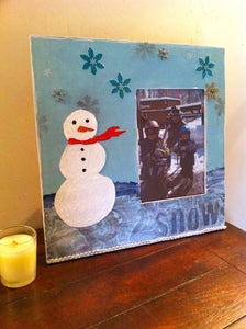 Image of Wintertime Snow Art Frame