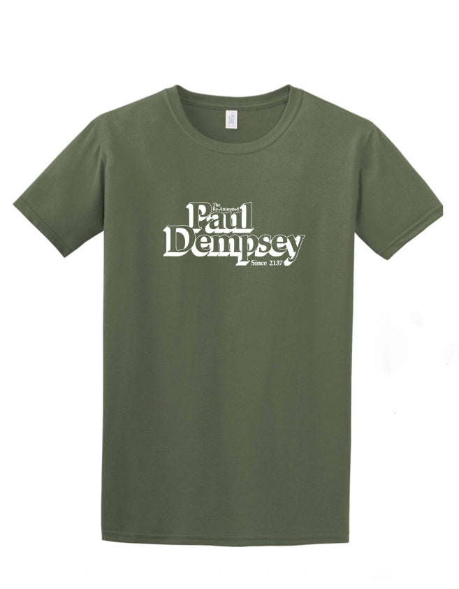 Image of Paul Dempsey Reanimated tee on khaki green