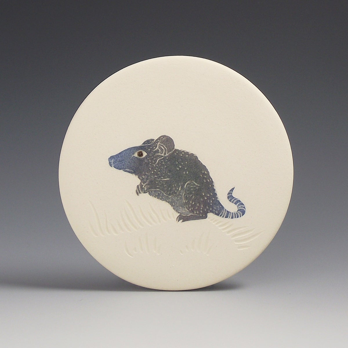 Woodland mouse ceramic wall hanging