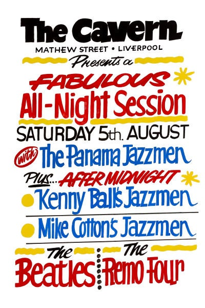 Image of ALL NIGHT SESSION AT THE CAVERN CLUB POSTER