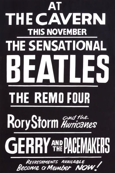 Image of THE BEATLES AT THE CAVERN CLUB POSTER 1962