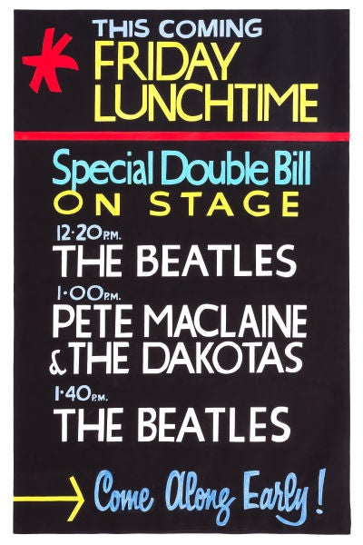 Image of THE BEATLES FRIDAY LUNCHTIME AT THE CAVERN CLUB POSTER