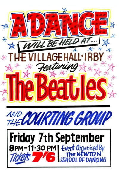 Image of THE BEATLES IRBY CONCERT POSTER 1962