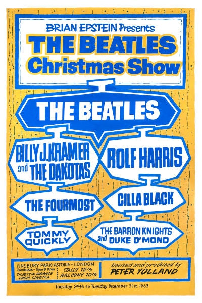 Image of THE BEATLES ASTORIA LONDON CONCERT POSTER 1963