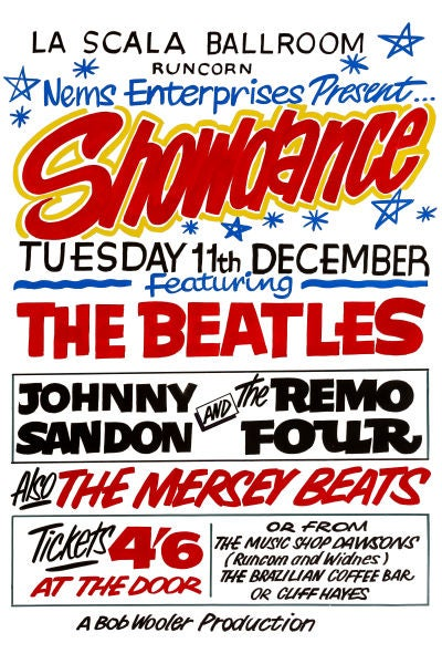 Image of THE BEATLES LIVE IN RUNCORN GIG POSTER 1962