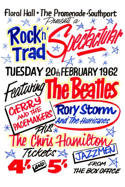 Image of THE BEATLES FLORAL HALL SOUTHPORT CONCERT POSTER 1962