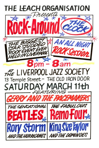 Image of THE BEATLES AT THE OLD IRON DOOR CONCERT POSTER 1961