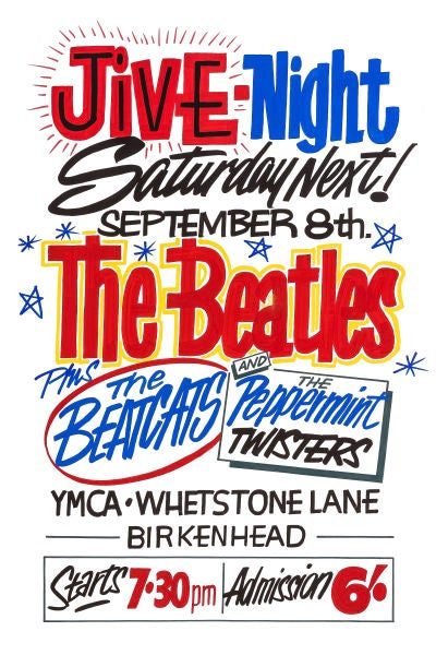 Image of THE BEATLES AT YMCA BIRKENHEAD CONCERT POSTER 1962