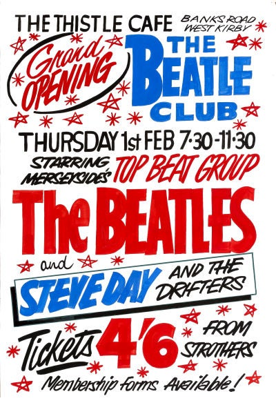 Image of THE BEATLES AT THE THISTLE CAFE CONCERT POSTER 1962
