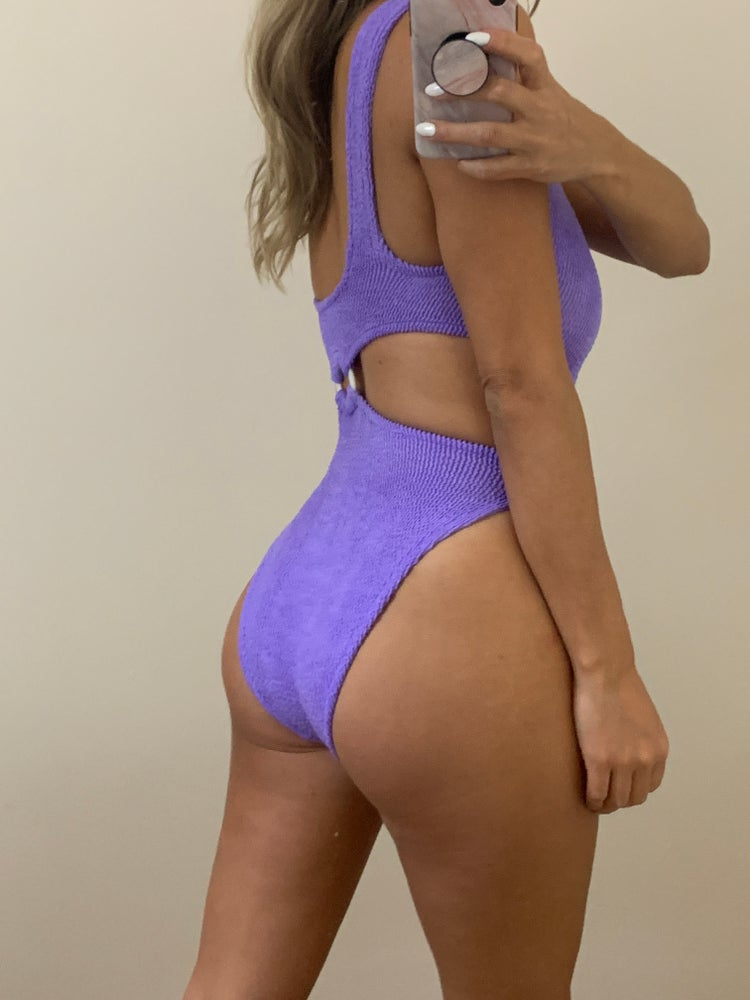 Image of Lilac Single Ring Cut Out Onepiece