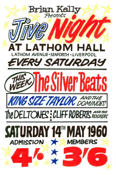 Image of THE BEATLES AT LATHOM HALL SEAFORTH CONCERT POSTER 1962
