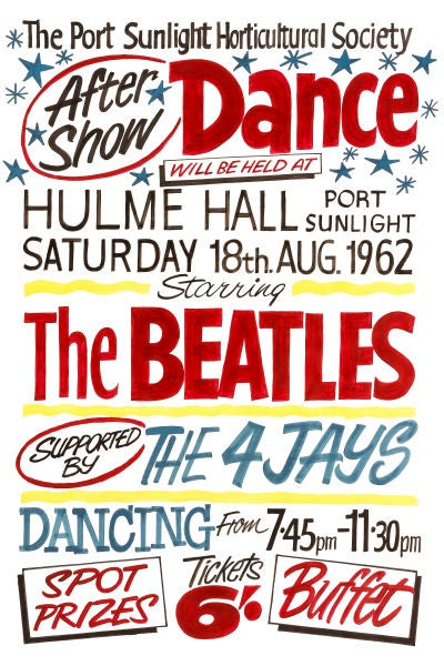 Image of THE BEATLES AT HULME HALL CONCERT POSTER 1962