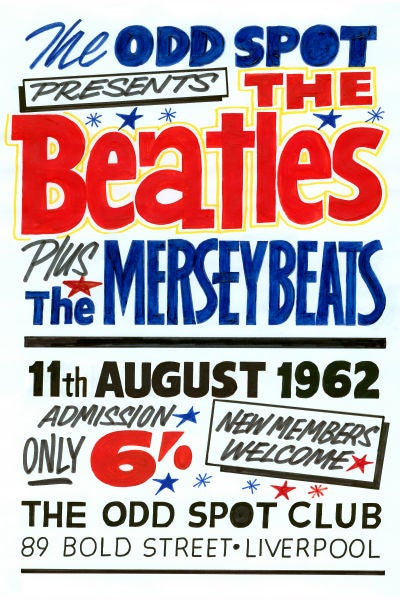 Image of THE BEATLES & THE MERSEY BEATS GIG POSTER 1962