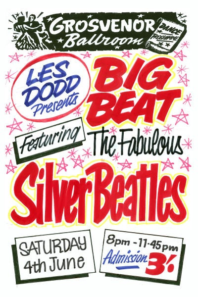 Image of THE FABULOUS SILVER BEATLES CONCERT POSTER 1960