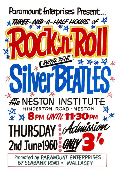 Image of ROCK 'N' ROLL WITH THE SILVER BEATLES CONCERT POSTER 1962