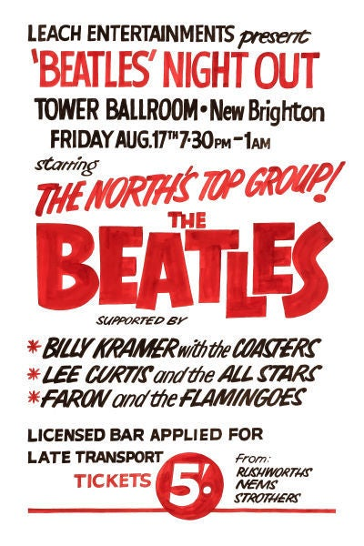 Image of THE BEATLES NIGHT OUT CONCERT POSTER 1962