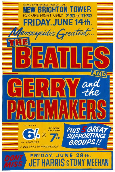 Image of THE BEATLES & GERRY AND THE PACEMAKERS CONCERT POSTER 1963