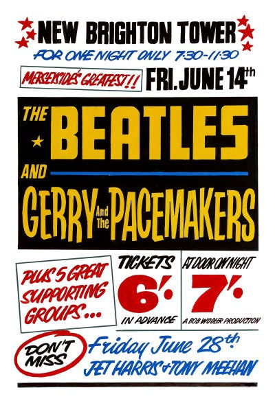 Image of THE BEATLES AT THE TOWER BALLROOM CONCERT POSTER 1963