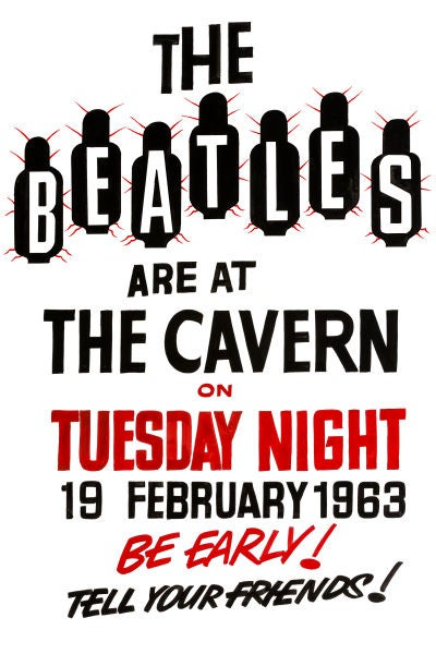 Image of THE BEATLES AT THE CAVERN CLUB POSTER 1963