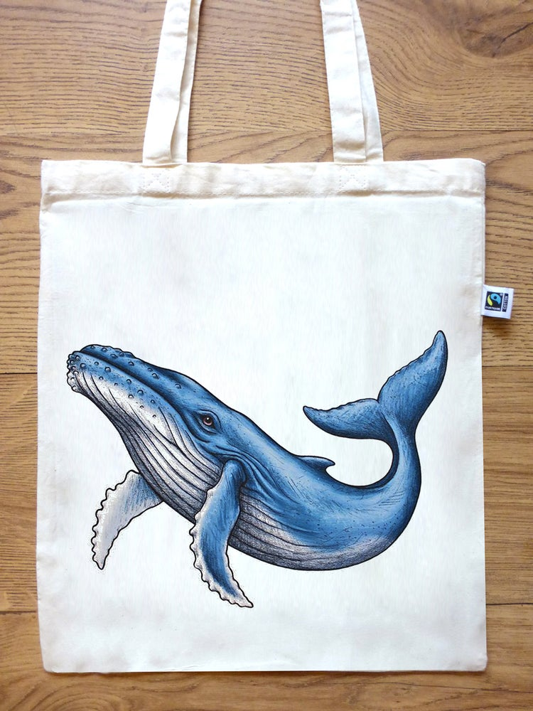 Image of Whale Tote Bag