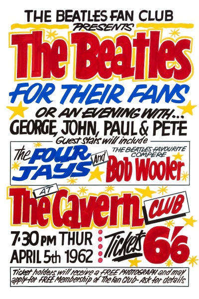 Image of THE BEATLES FOR THEIR FANS POSTER 1962