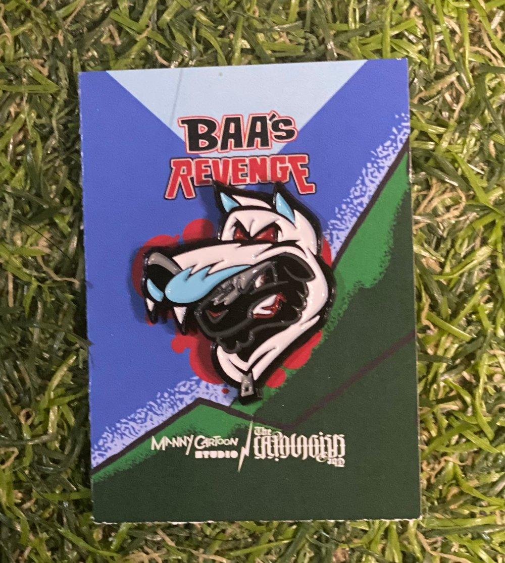 Manny Cartoon Studio - Baa's Revenge Soft Enamel Pin