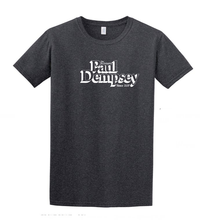 Image of Paul Dempsey Re-Animated tee on dark grey marle 3XL size only