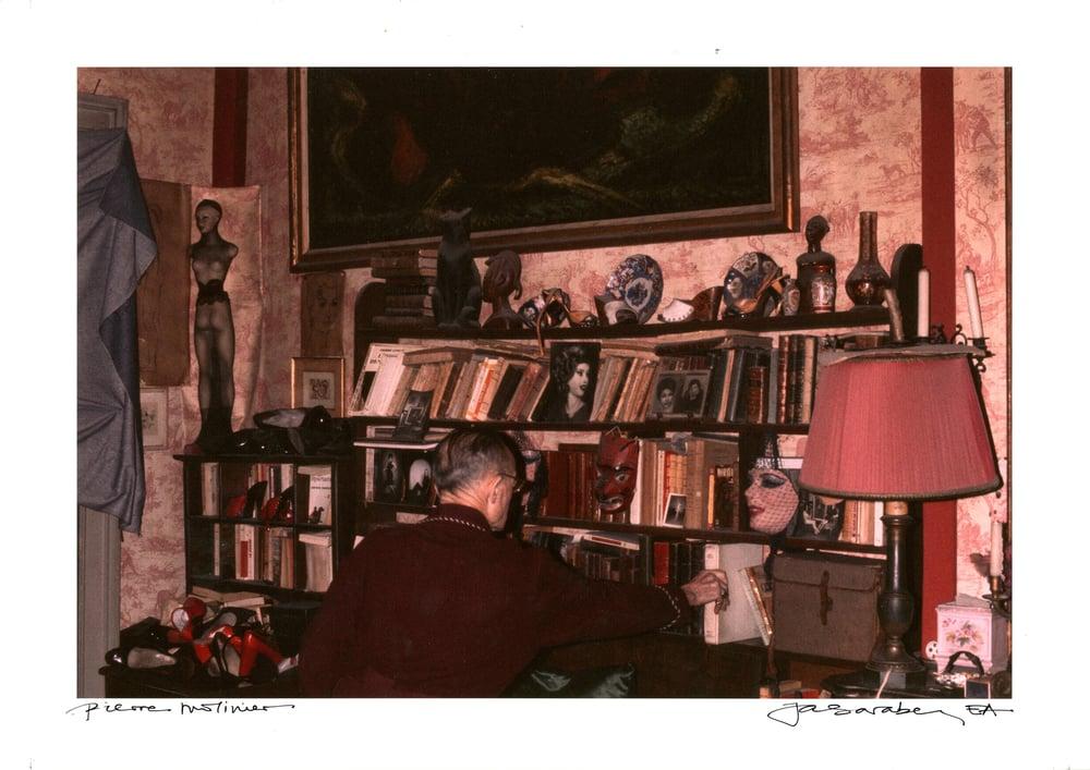 "Image of J. Saraben  ""Pierre Molinier, rue des Faussets""  Tirage original E.A. (30x45 cm)"