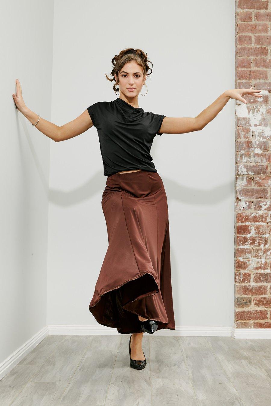 Image of Rikoko Top - Black (E1289) Dancewear latin ballroom