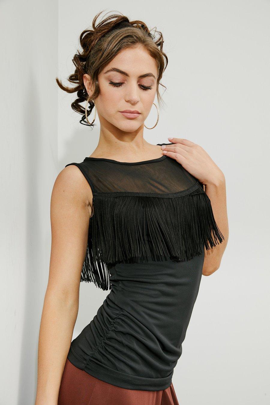 Image of Shivers Top E8692 Dancewear latin ballroom