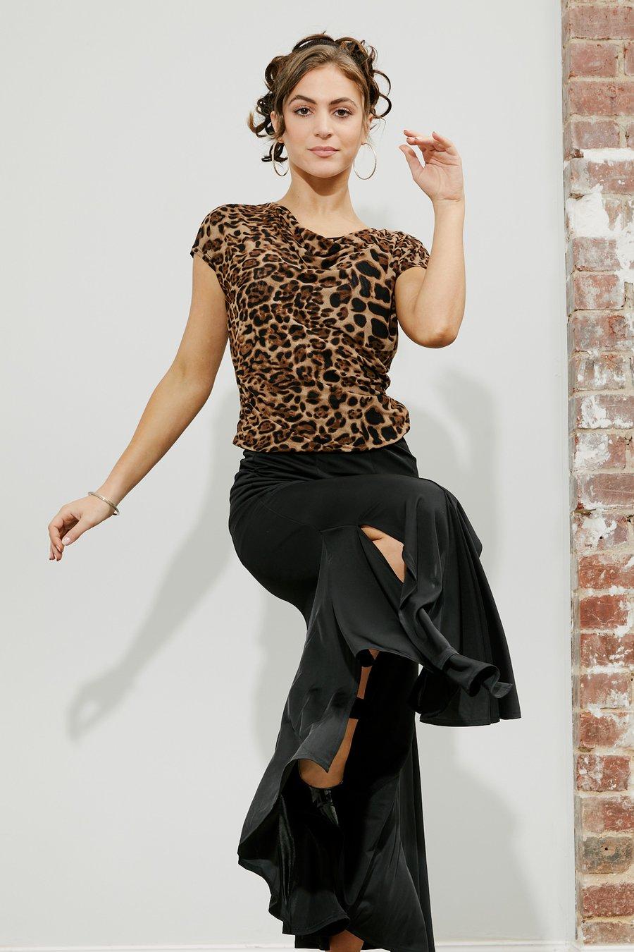 Image of Rikoko Top - Animal E1289/E7153 Dancewear latin ballroom