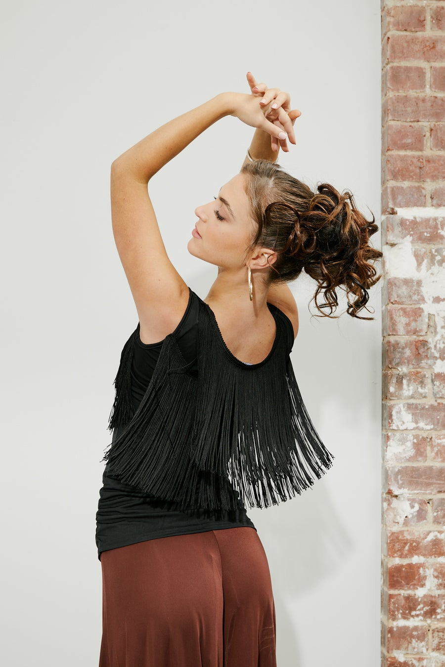 Image of Fringe Heaven Top E8687 Dancewear latin ballroom
