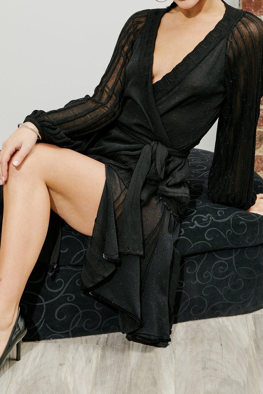 Image of Cross Over Knitted Cardigan JNT-102 Dancewear latin ballroom