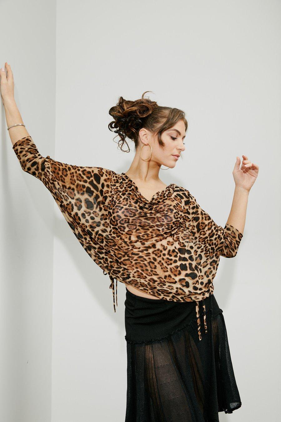 Image of Soft Lantern Top - Animal (E6047) Dancewear latin ballroom