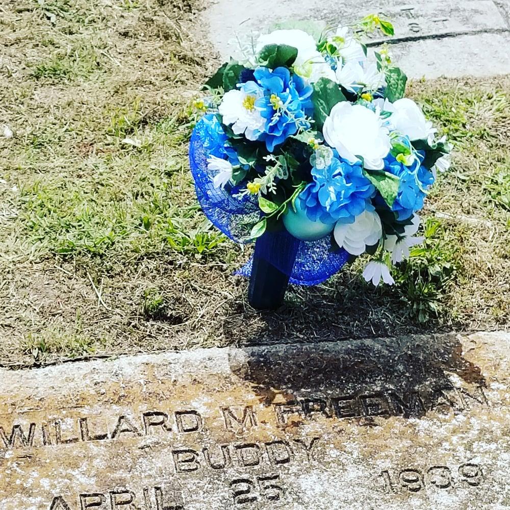 Memorial grave floral arrangements