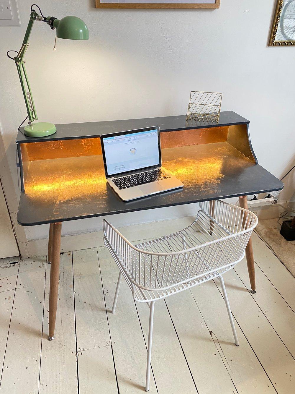 Image of Designer Retro Copper Desk