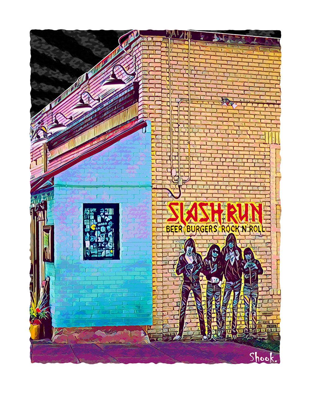 Slash Run, Washington DC Giclée Art Print (Multi-size options)