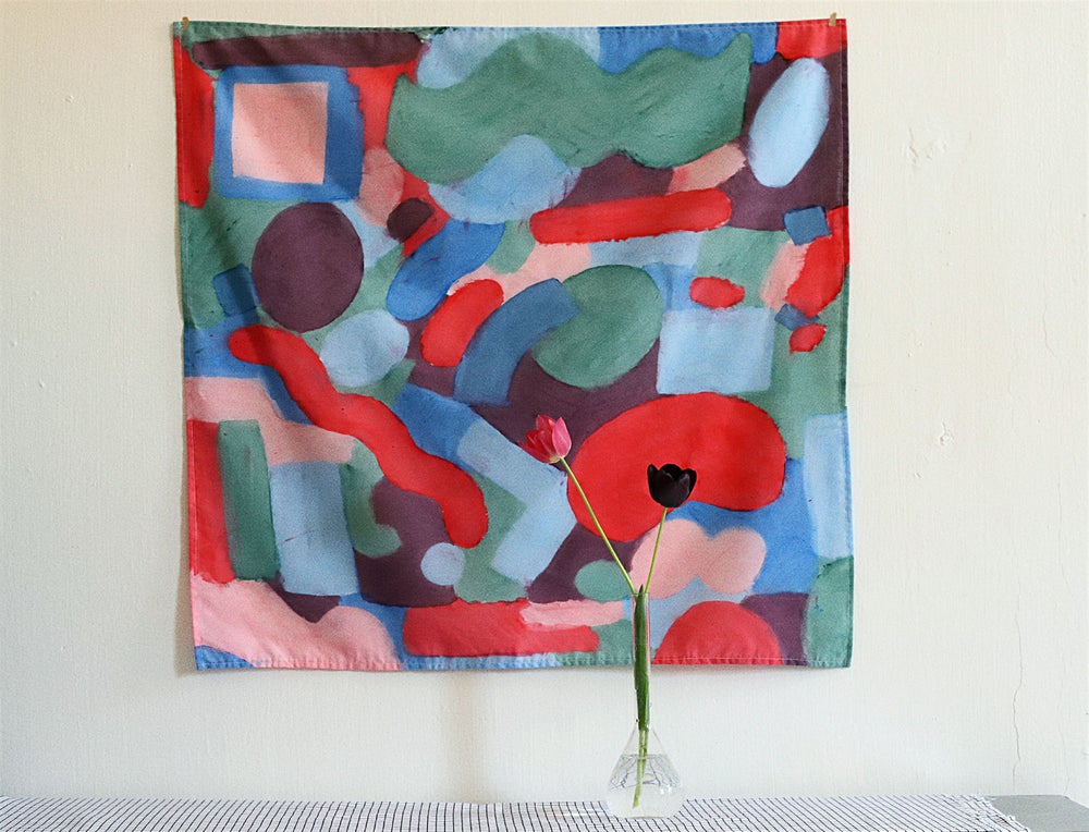 Image of HAND PAINTED SCARF and WALL ART no.1