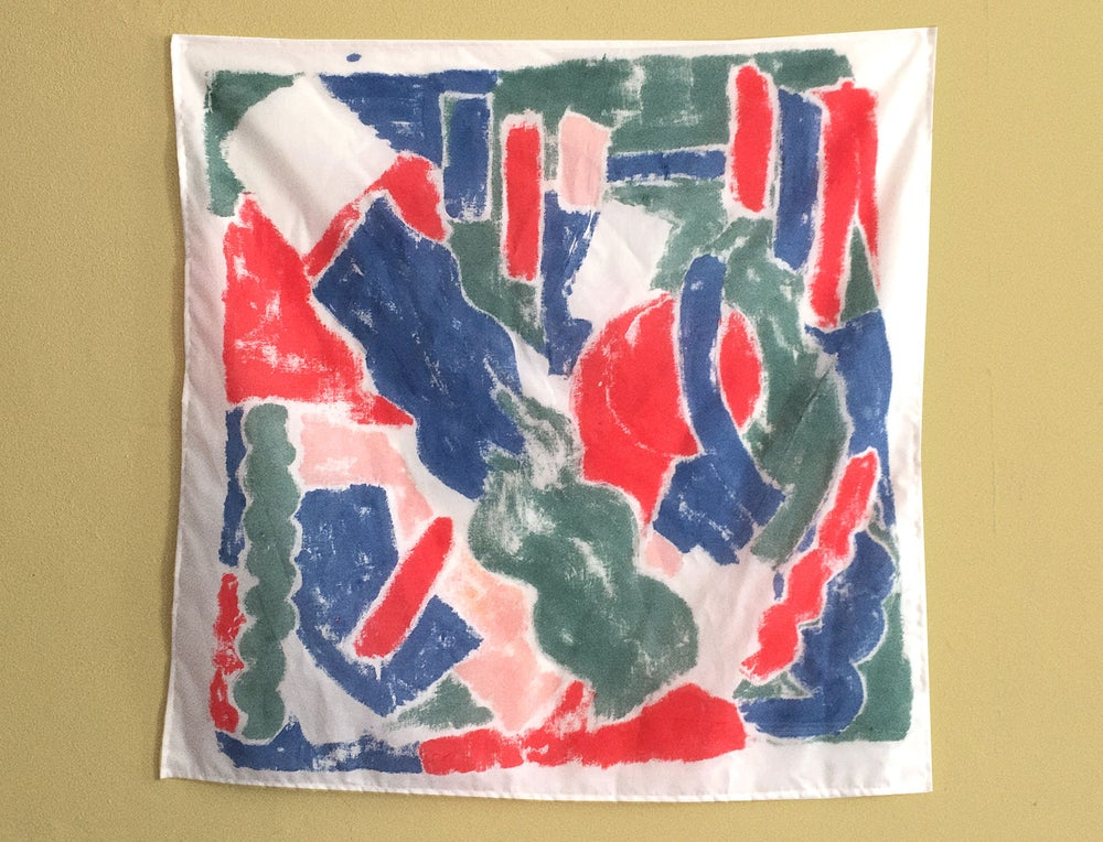 Image of HAND PAINTED SCARF and WALL ART no.4