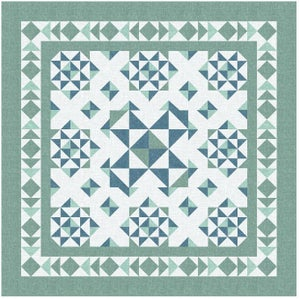 Image of Broken Dishes Qube Workout Quilt Pattern in 5 Sizes