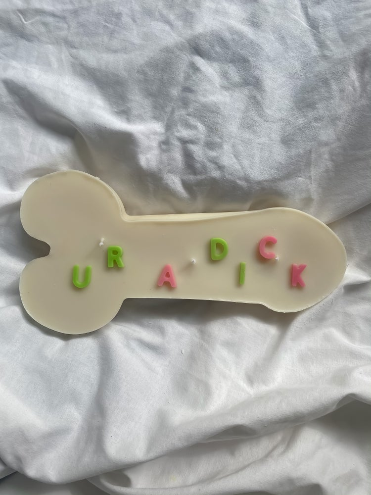 Image of 'Ur a dick' phallic
