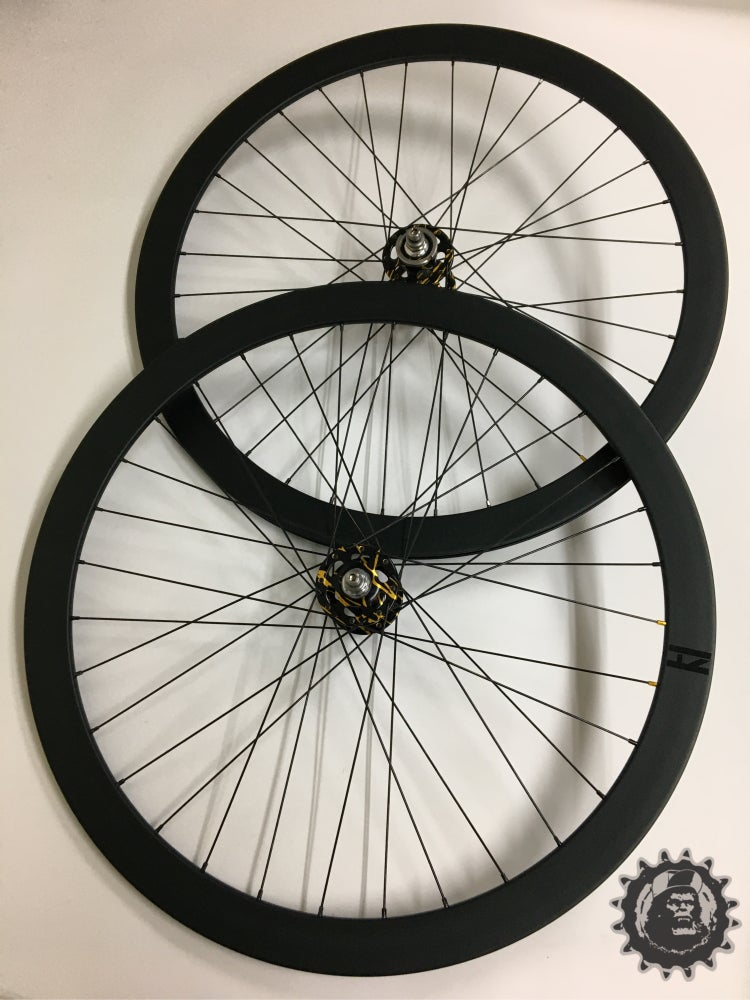 Image of Sick Wheel set! Paul hubs laced to H plus Son