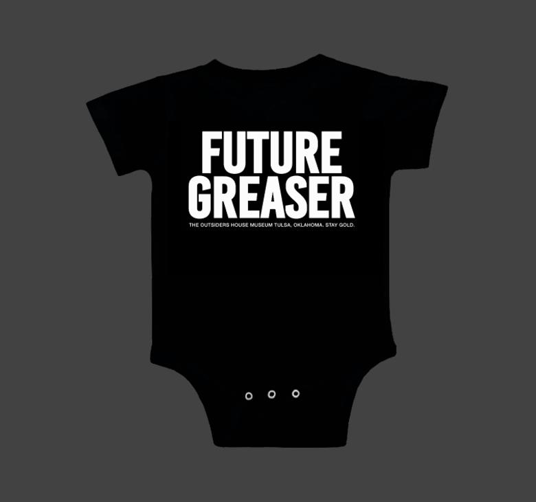 Image of FUTURE GREASER. Onesie.