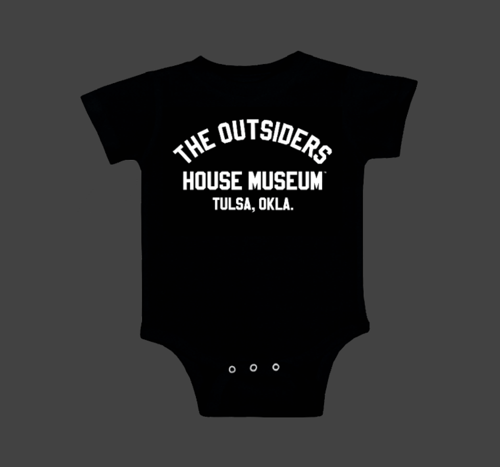 Image of THE OUTSIDERS HOUSE MUSEUM TULSA.  Onesie.