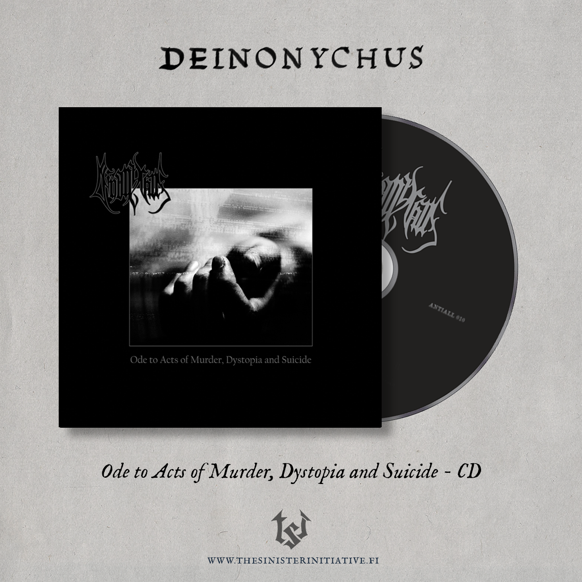 """Image of Deinonychus """"Ode To Acts Of Murder, Dystopia And Suicide"""" CD"""