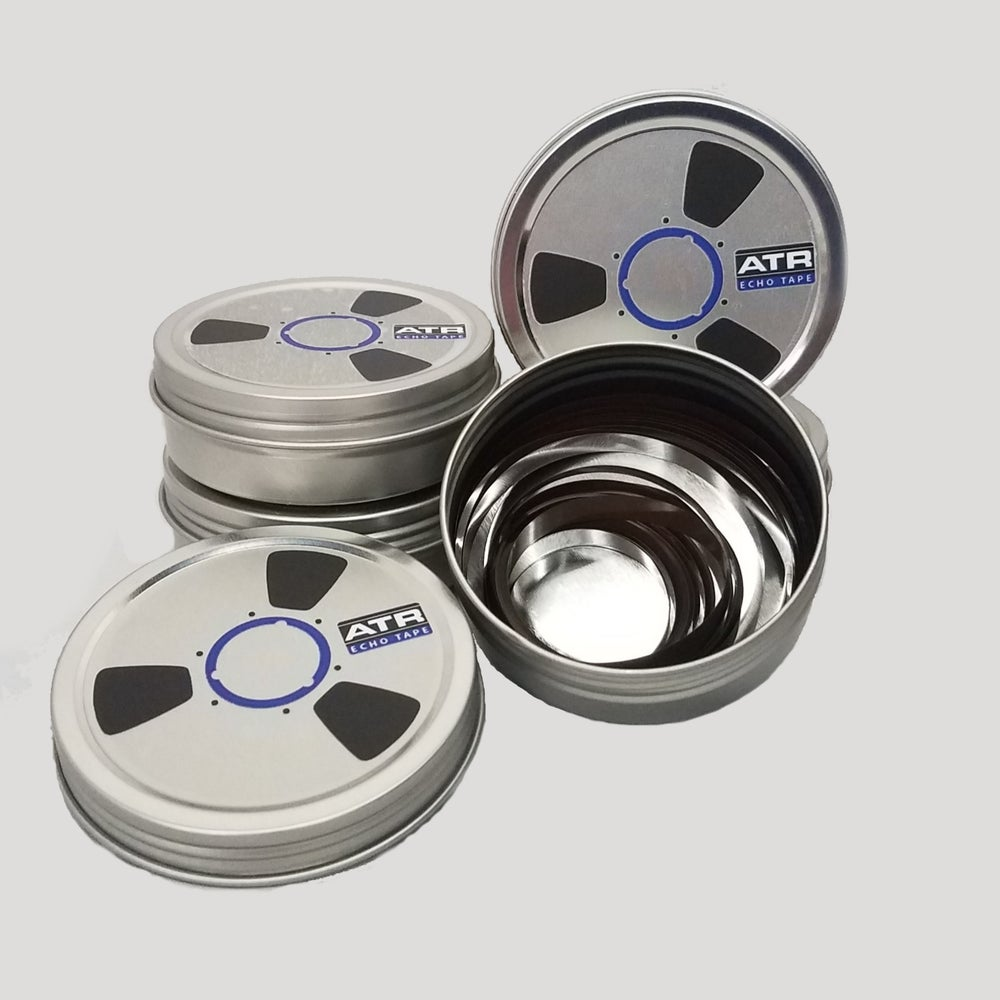 """Image of ATR Echo Tape - 1/4"""" x 25' Lubricated Tape with Graphite Backcoat in a Metal Tin"""