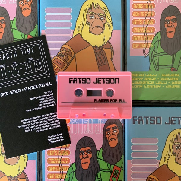 Image of FATSO JETSON 'Flames For All' 20th anniversary cassette