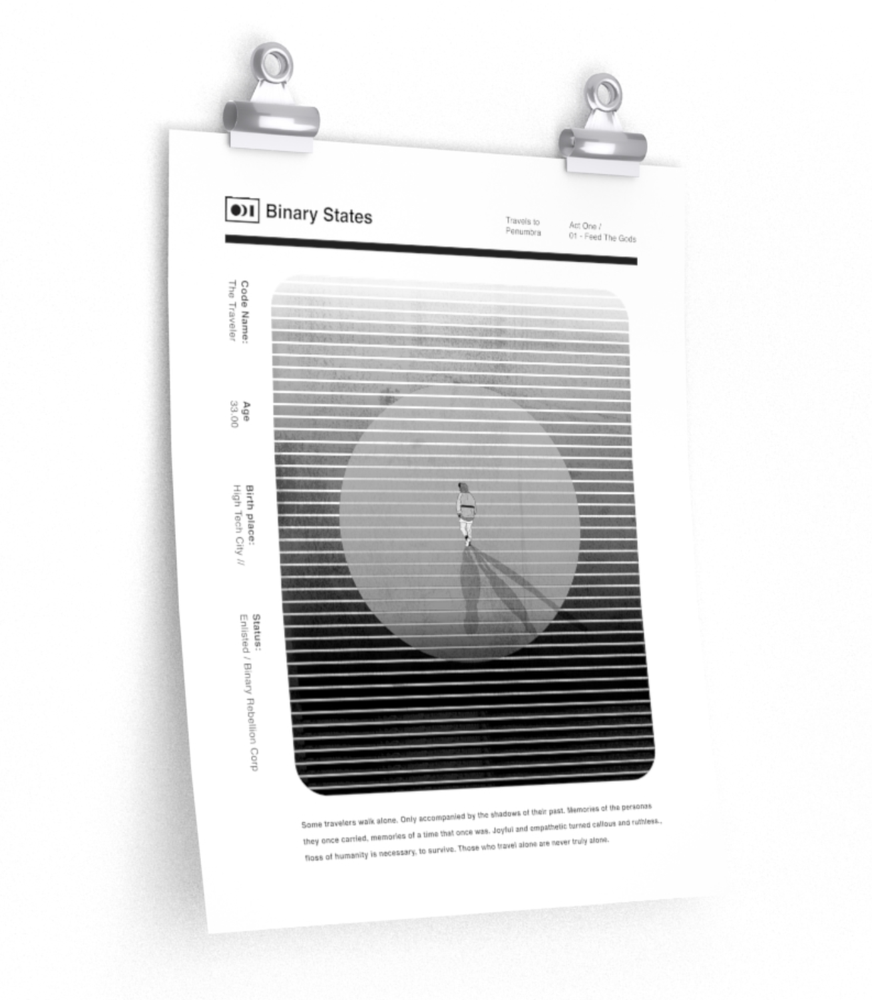 Image of Binary States - Feed The Gods - Poster Matte
