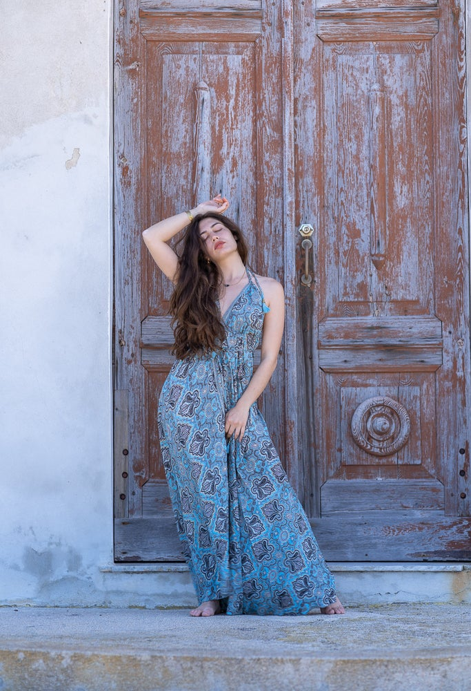 Neela gold blue